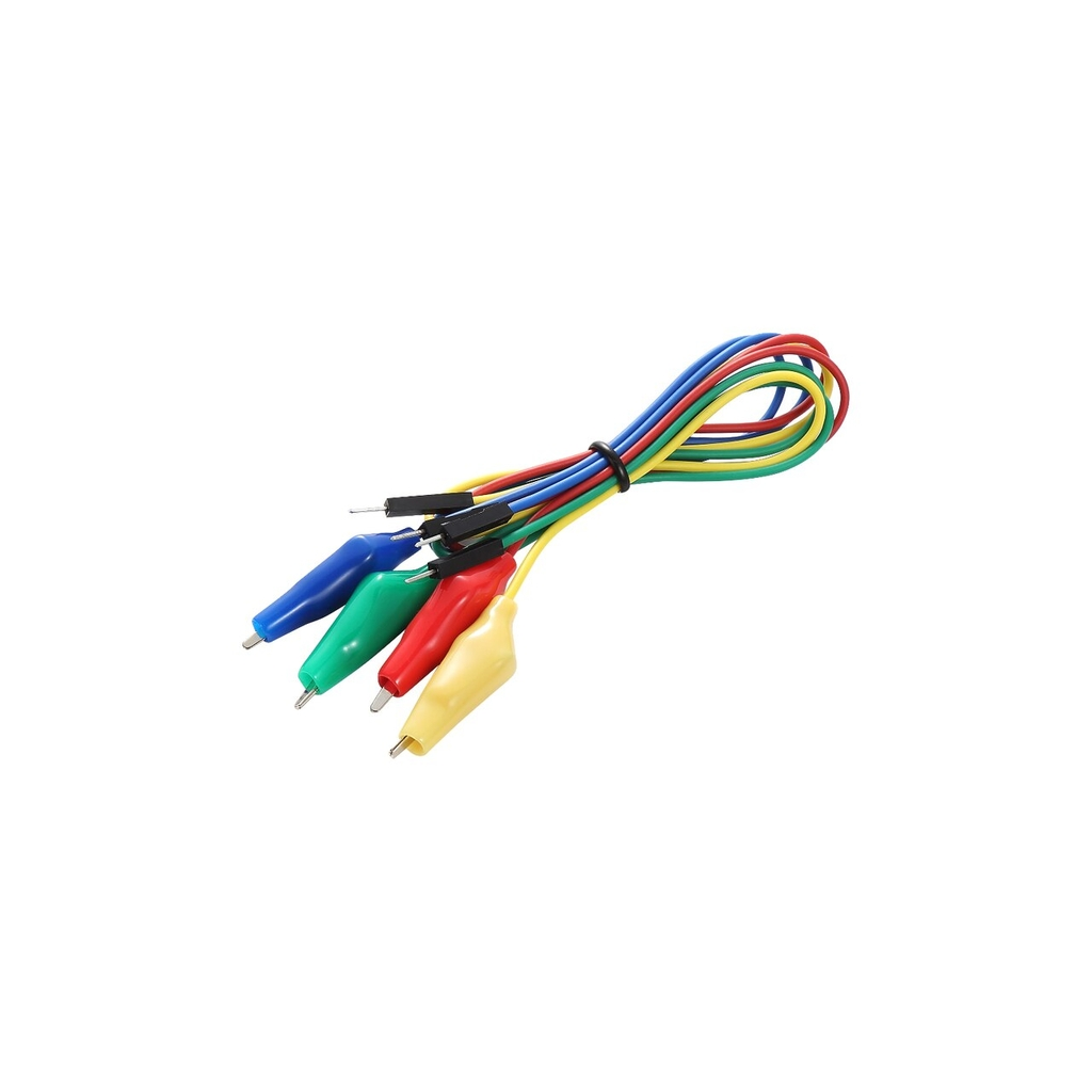 Alligator Clip to Dupont Male Cables (Pack of 4)