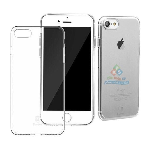Ốp lưng iPhone 7 full dẻo trong suốt cao cấp Baseus