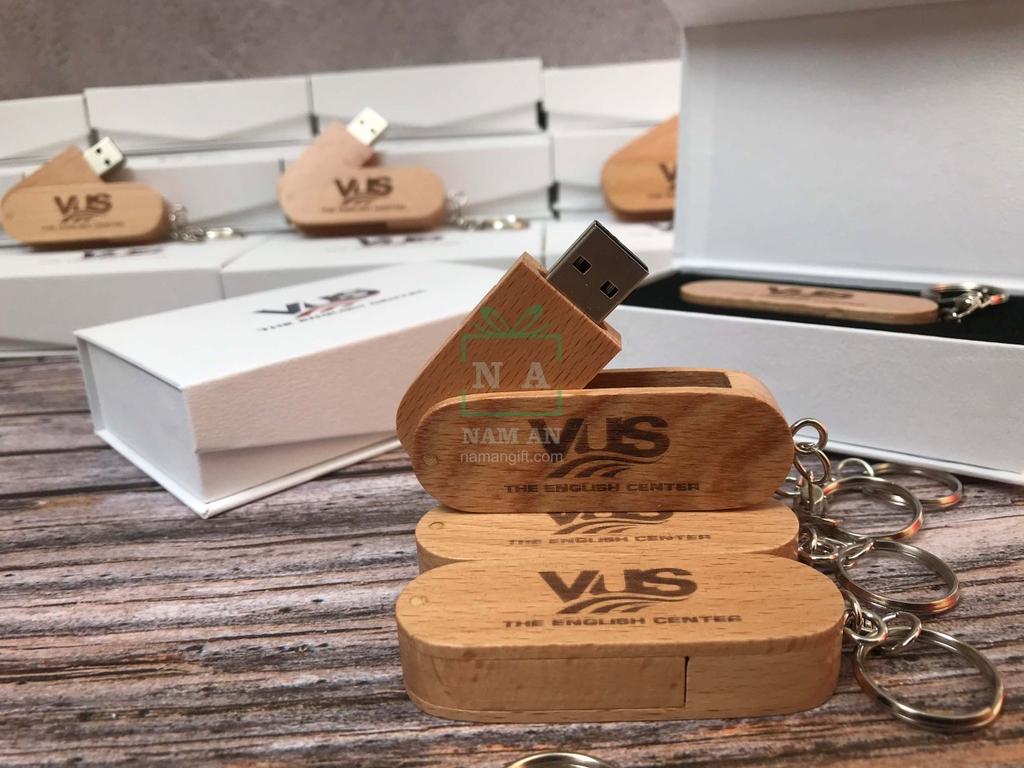 usb vỏ gỗ khắc logo làm quà tặng
