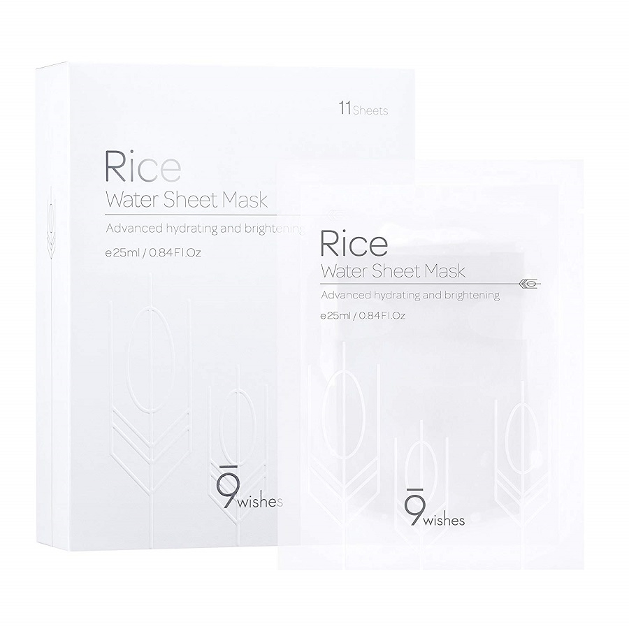 Mặt Nạ 9 Wishes Rice Water Sheet Mask - 25ml May Cosmetic