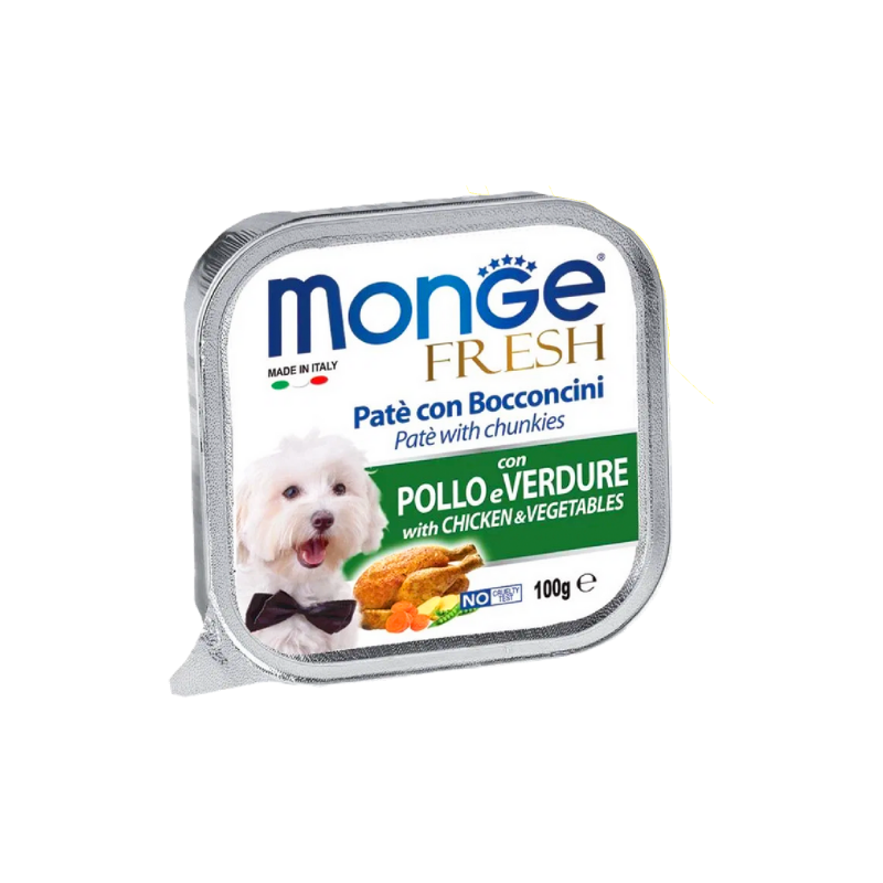 Pate chó MONGE - Chicken & Vegetable - 100g