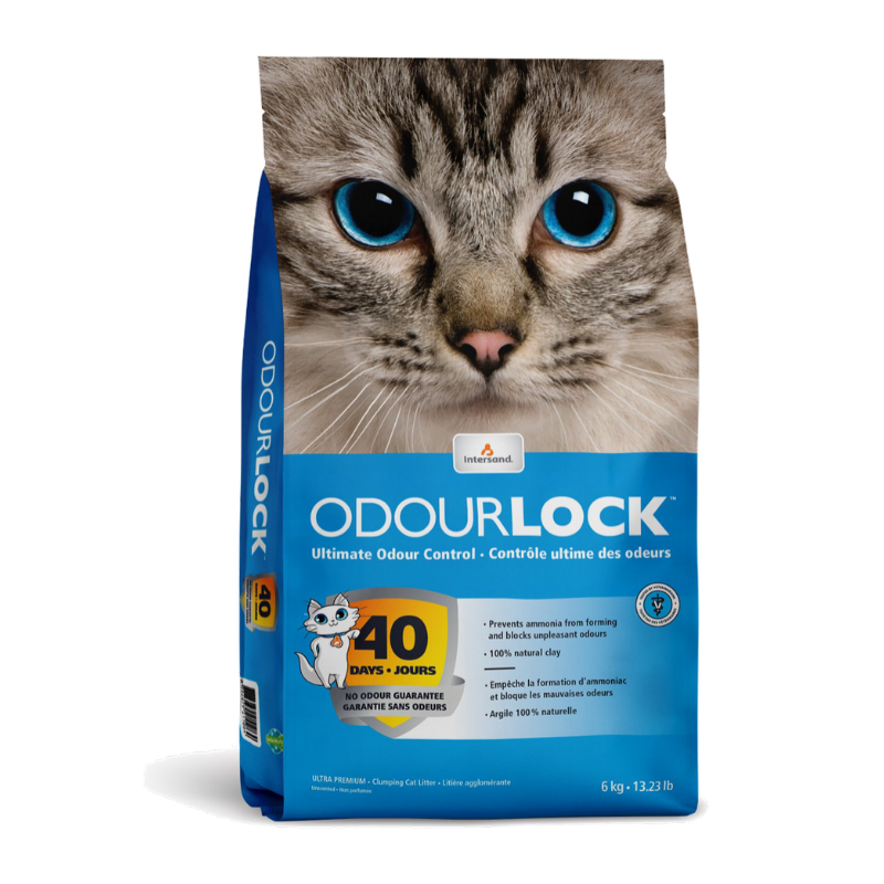 Cát mèo Intersand - Odour Lock Ultra Premium - Unscented - 6kg