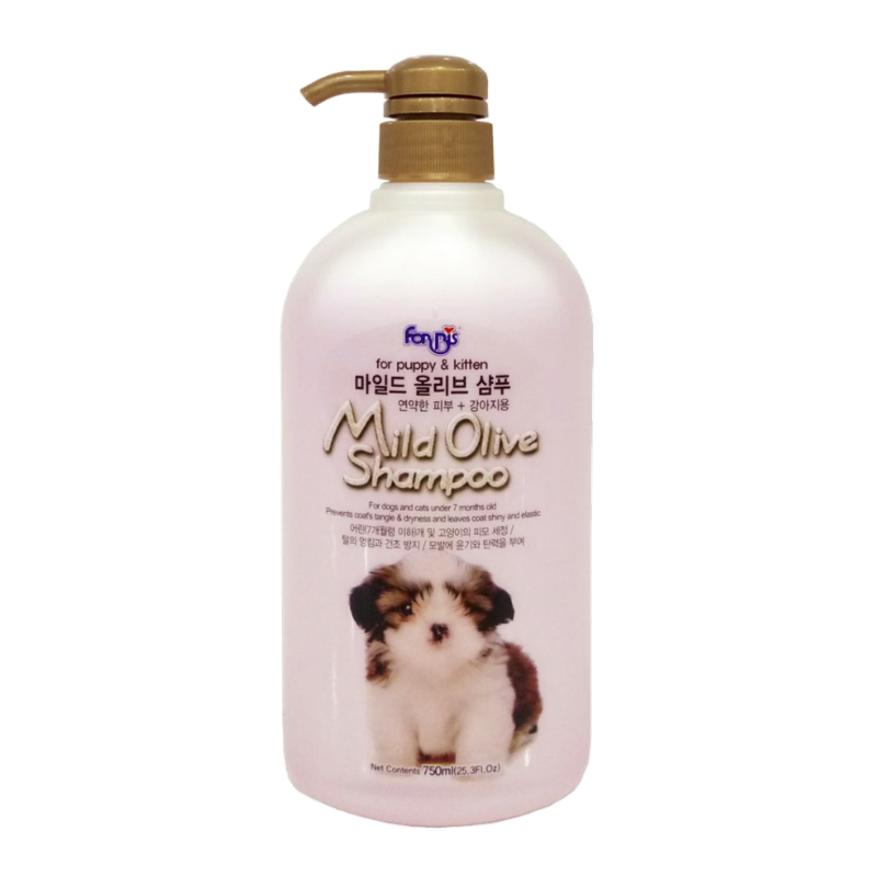 FORCANS - Mild Olive Shampoo - Dầu Tắm Olive Cho Chó Con - 750ml