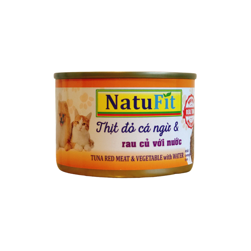 Pate chó mèo NatuFit - Tuna & Vegetable with water - 160g