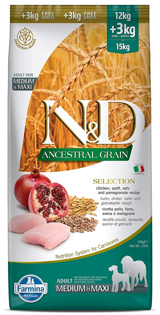 Farmina Ancestral Grain Medium & Maxi Adult 15kg