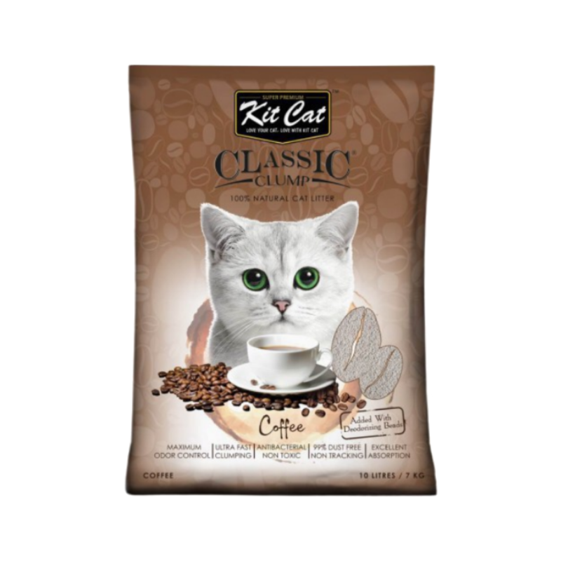 Cát mèo KIT CAT - Classic Clump - Coffee - 10L
