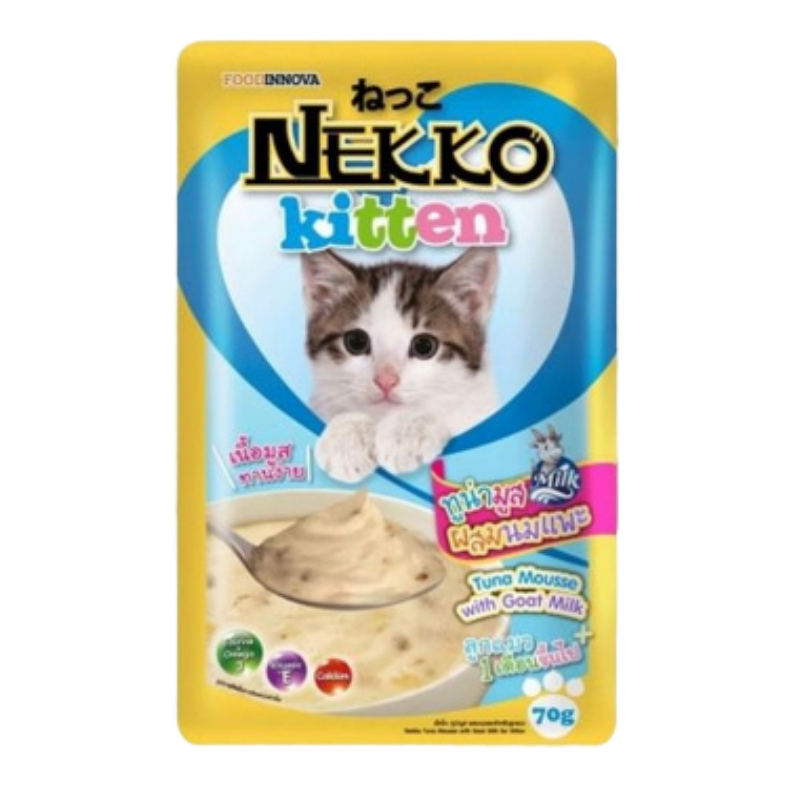Pate mèo Nekko Kitten -  Tuna Mousse with Goat Milk - 70g
