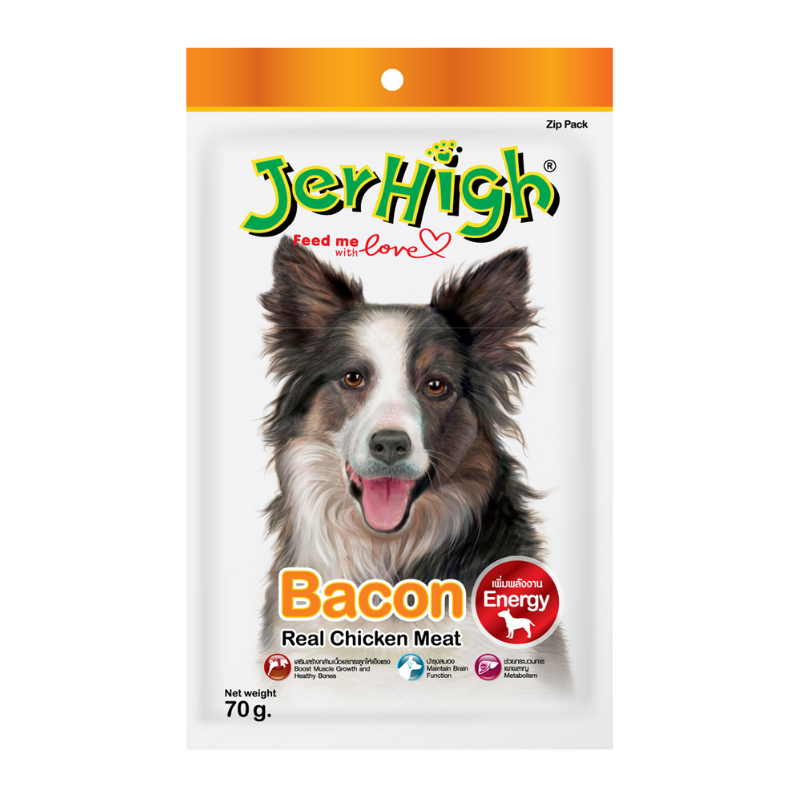 Jerhigh - Real Chicken Meat - Bacon - 70g