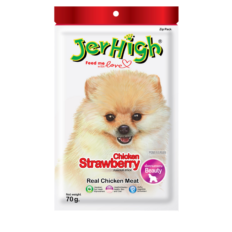 Jerhigh - Real Chicken Meat - Strawberry Stick - 70g