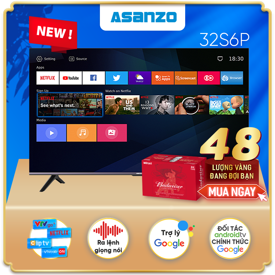 "Smart TV iSLIM PRO 32""- 32S6P (Android 9.0 Pie – 2021)"