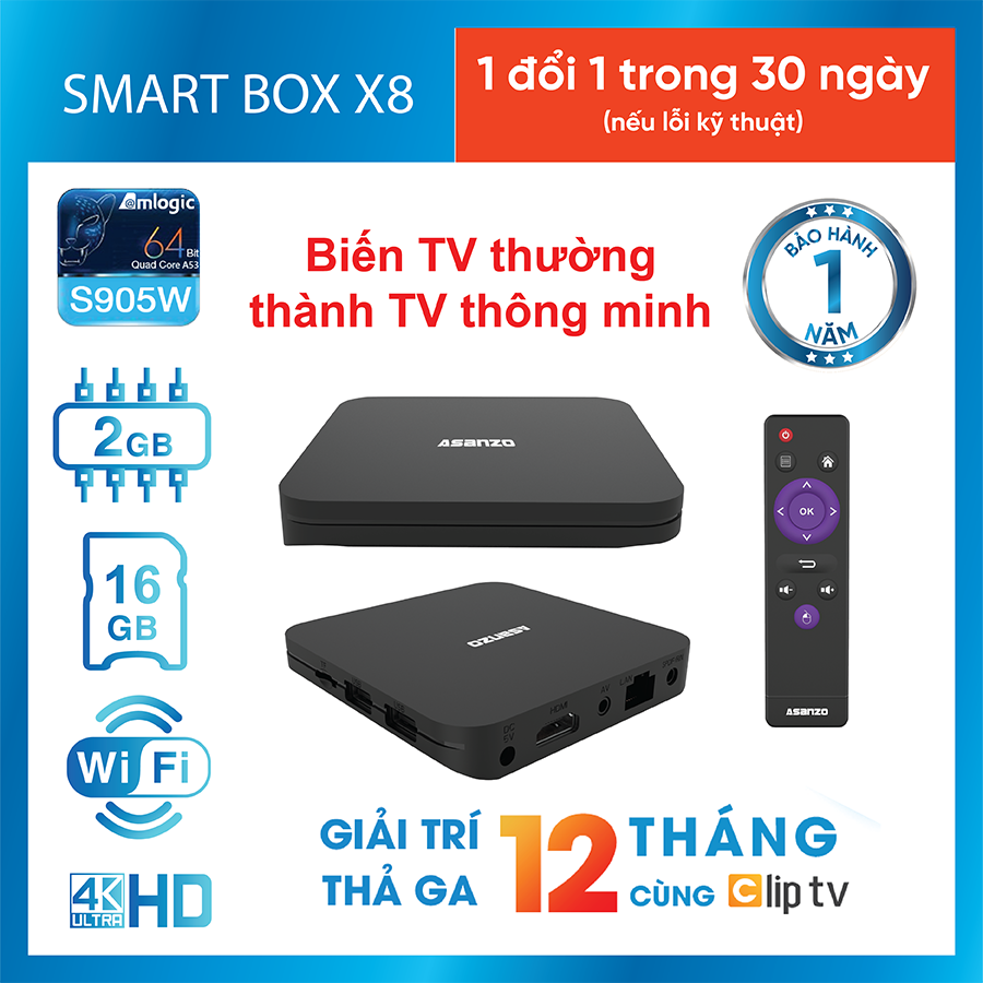 Smart Android Box Asanzo X8