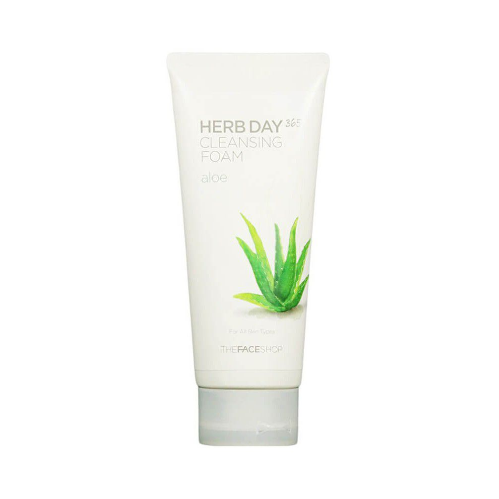 Sữa Rửa Mặt The Face Shop Herb Day 365 Cleansing Foam Mùi Aloe
