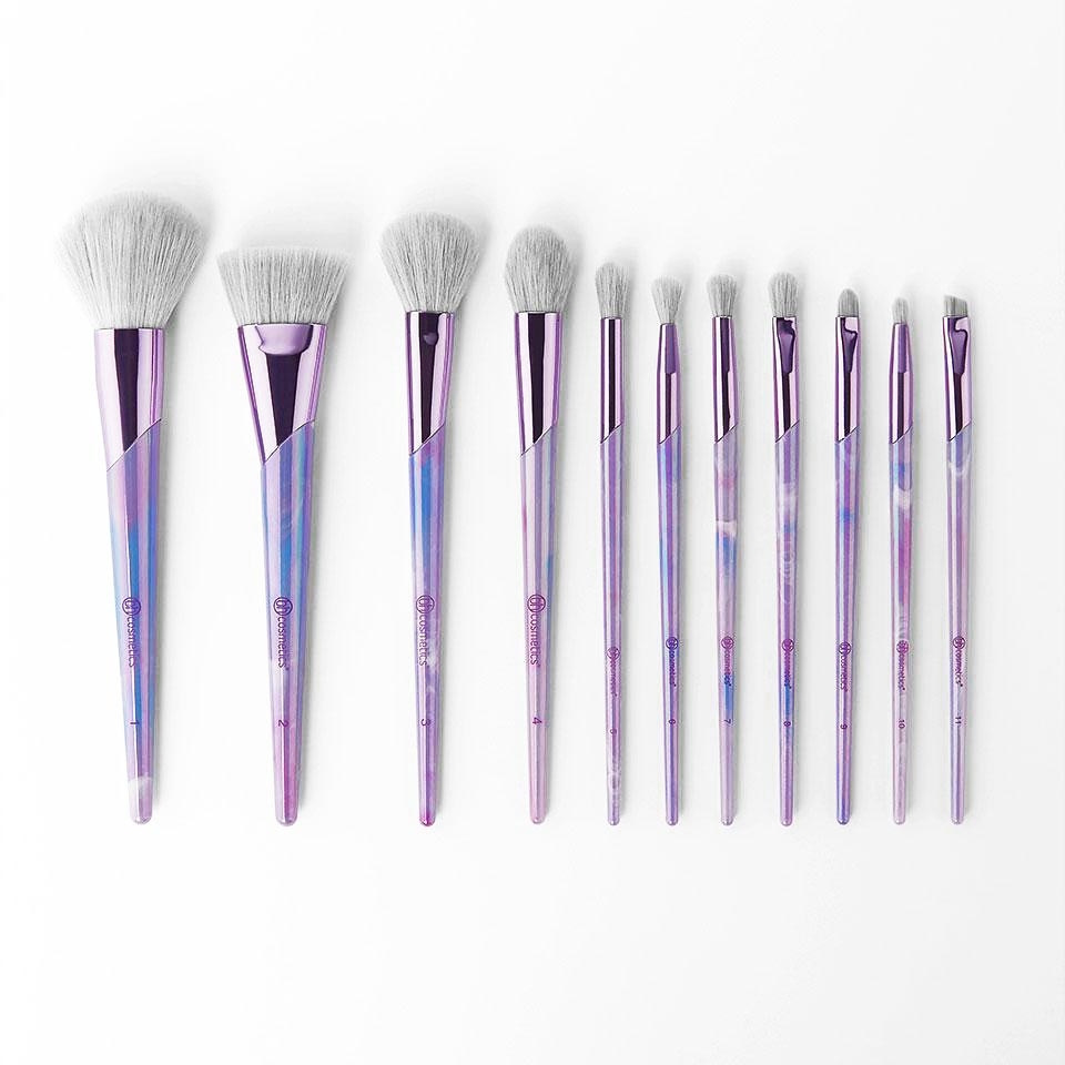 Bộ Cọ 11 Cây BHCosmetics Lavender Luxe 11 Piece Brush Set