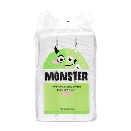 Bông Tẩy Trang Etude House Monster Cleansing Cotton 408pcs