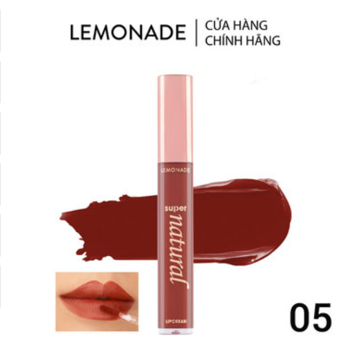 Son Kem Lì Lemonade Màu Đỏ Đất 05 Hot As Fire 5g SuperNatural Matte Lipcream #05 Hot As Fire