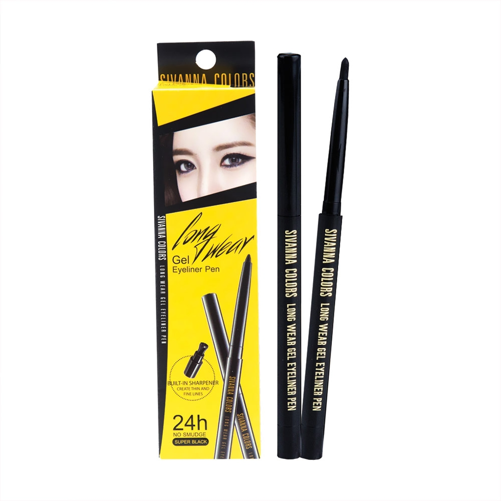 Chì Kẻ Mắt Sivanna Colors Long Wear Gel Eyeliner Pen Màu Đen Long Wear Gel Eyeliner Pen - Black
