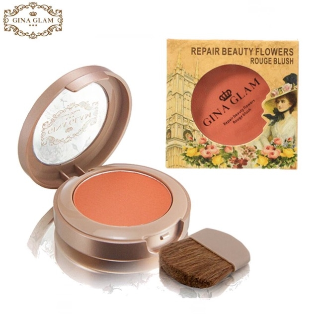 Phấn Má Gina Glam Repair Beauty Flowers #04 Shy 4.5g Repair Beauty Flowers Rouge Blush
