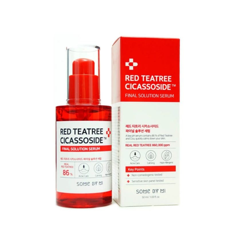 Tinh Chất Some By Mi Giảm Mụn Cho Da Nhạy Cảm Red Teatree Cicassoside Final Solution Serum 50ml