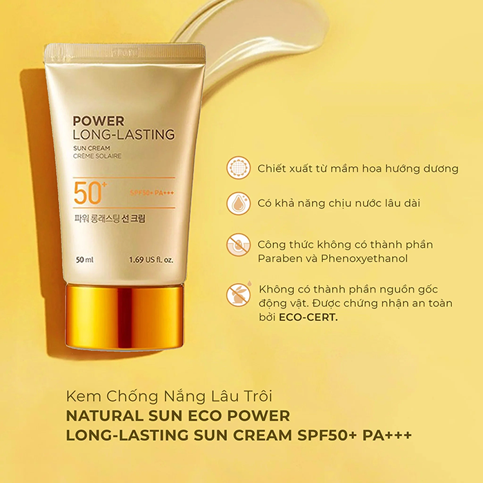 Kem chống nắng The Face Shop Power Long-Lasting 50 ml