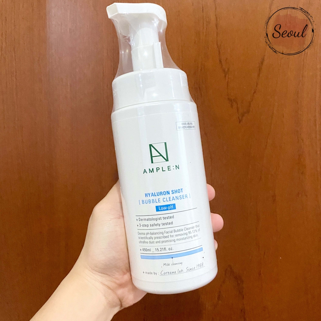 Ample:N Hyaluronic Shot Bubble Cleanser
