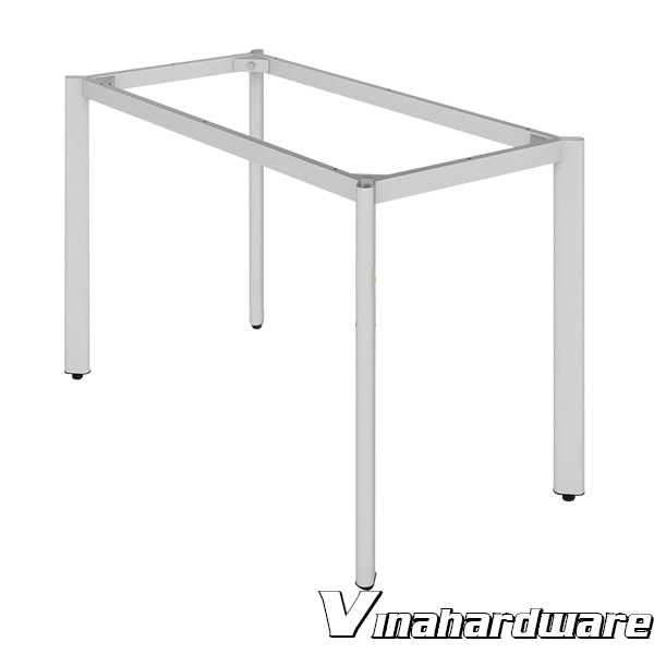 Oval tube office table frame