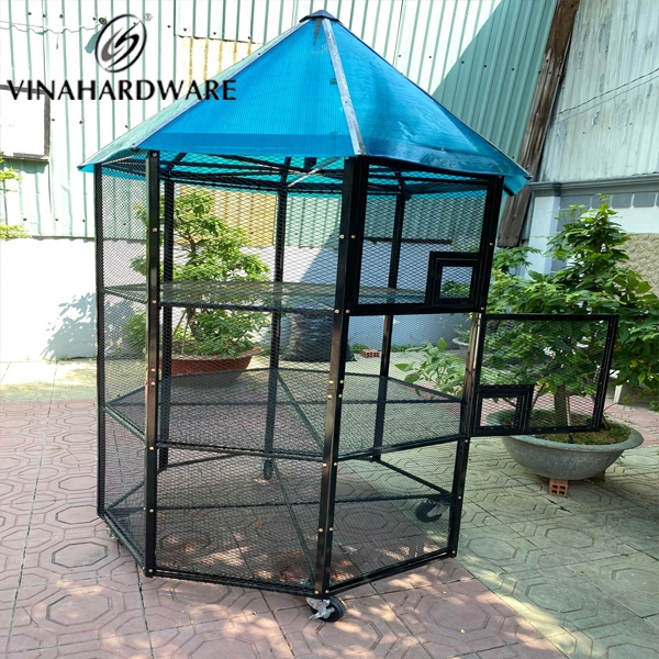 Sản xuất lồng chim sở thú / Bird cage for the zoo