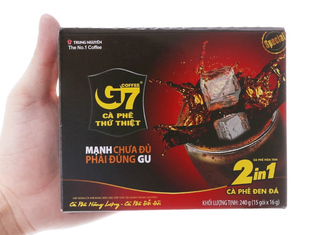 TU21 BLACK Coffee G7 2in1 Đen Đá