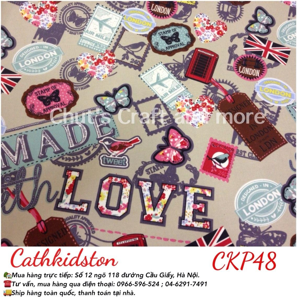 CKP48 Handmade with love be phủ lụa
