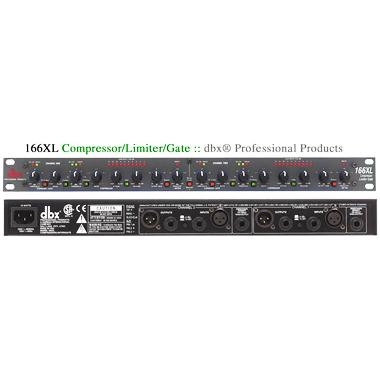 DBX 166XL Compressor/Limiter/Gate