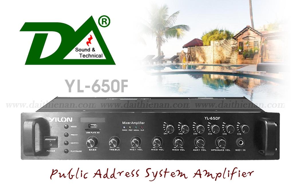 YILON YL-650F - 6 ZONE KÈM USB VÀ BLUETOOTH - 650W