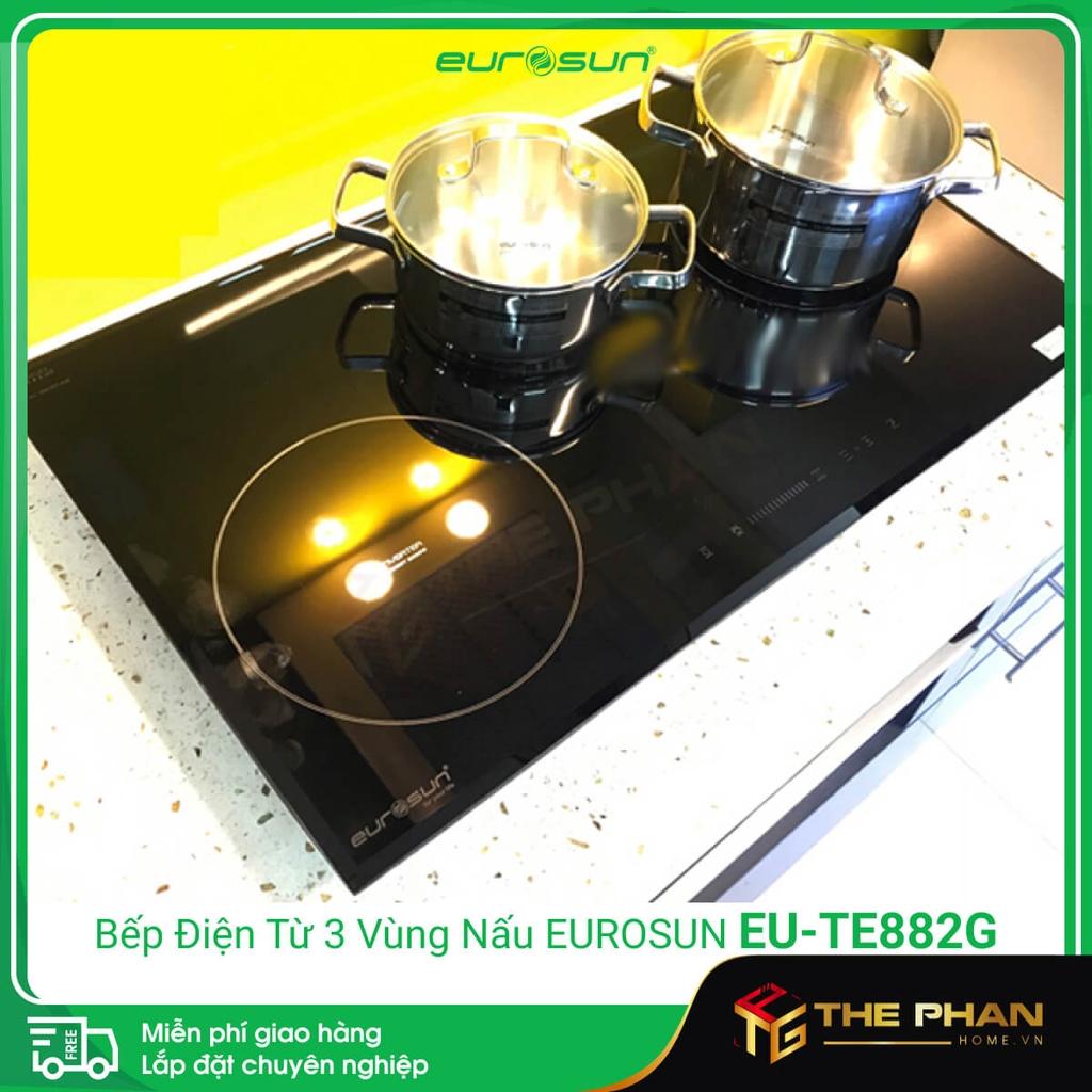 Hình ảnh thực tế của Bếp Điện Từ Eurosun EU-TE882G - 3 vùng nấu, CHLB Đức