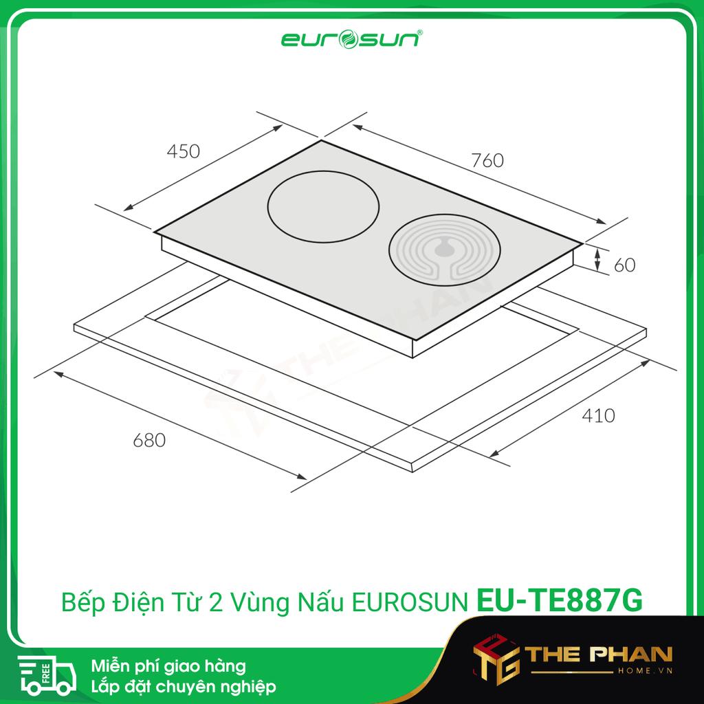 Hình ảnh thực tế Bếp điện từ đôi (1 điện + 1 hồng ngoại)Eurosun EU-TE887G