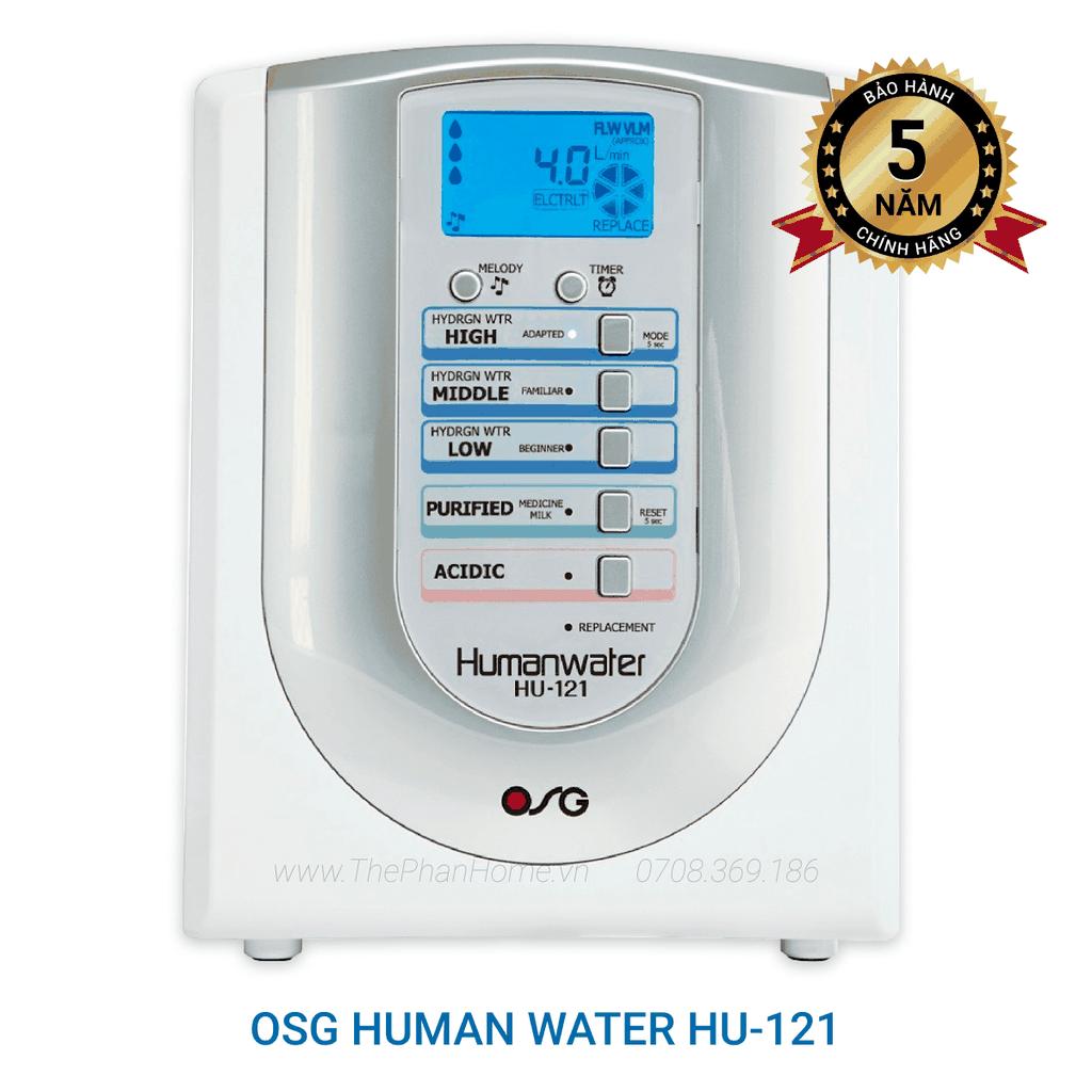 Máy Lọc Nước Điện Giải Ion Kiềm Giàu Hydro OSG Human Water HU-121