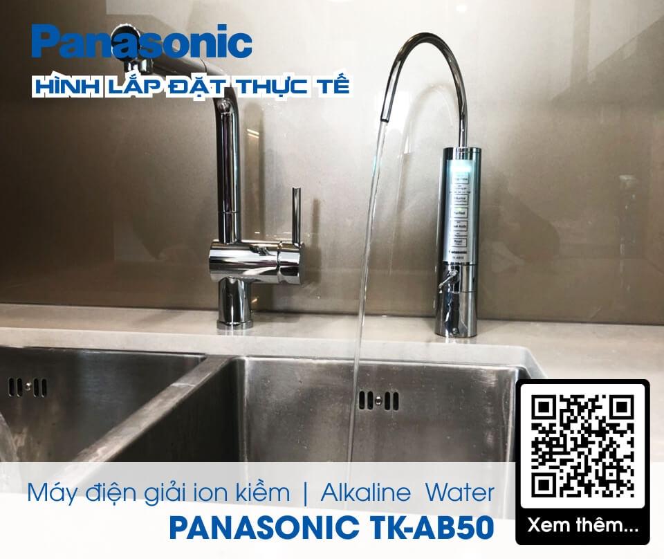 Máy Lọc Nước Điện Giải Ion Kiềm PANASONIC TK-AB50 - Hình thực tế