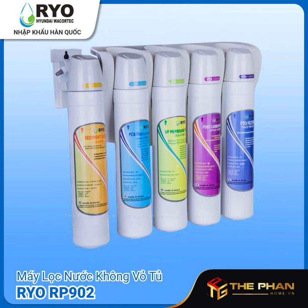 Máy Lọc Nước Ryo Hyundai RP902 có 5 lõi lọc khác nhau.