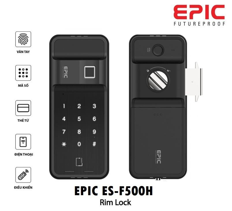 Khóa Điện Tử Vân Tay Thẻ Từ EPIC ES-F500H (Dành cho cửa lùa)