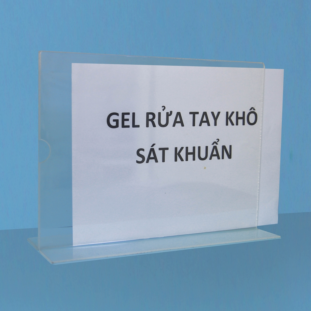 A4 transparent mica promotional price list board