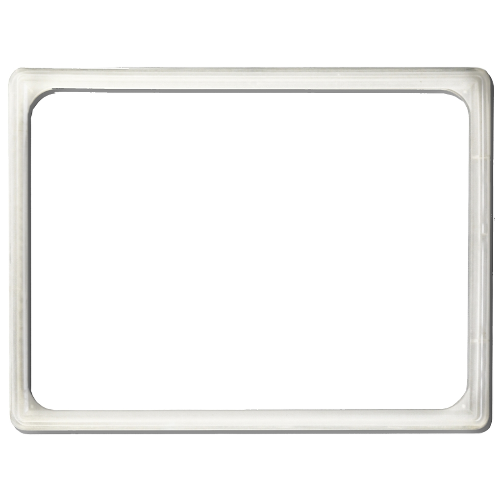 Transparent price list board frame