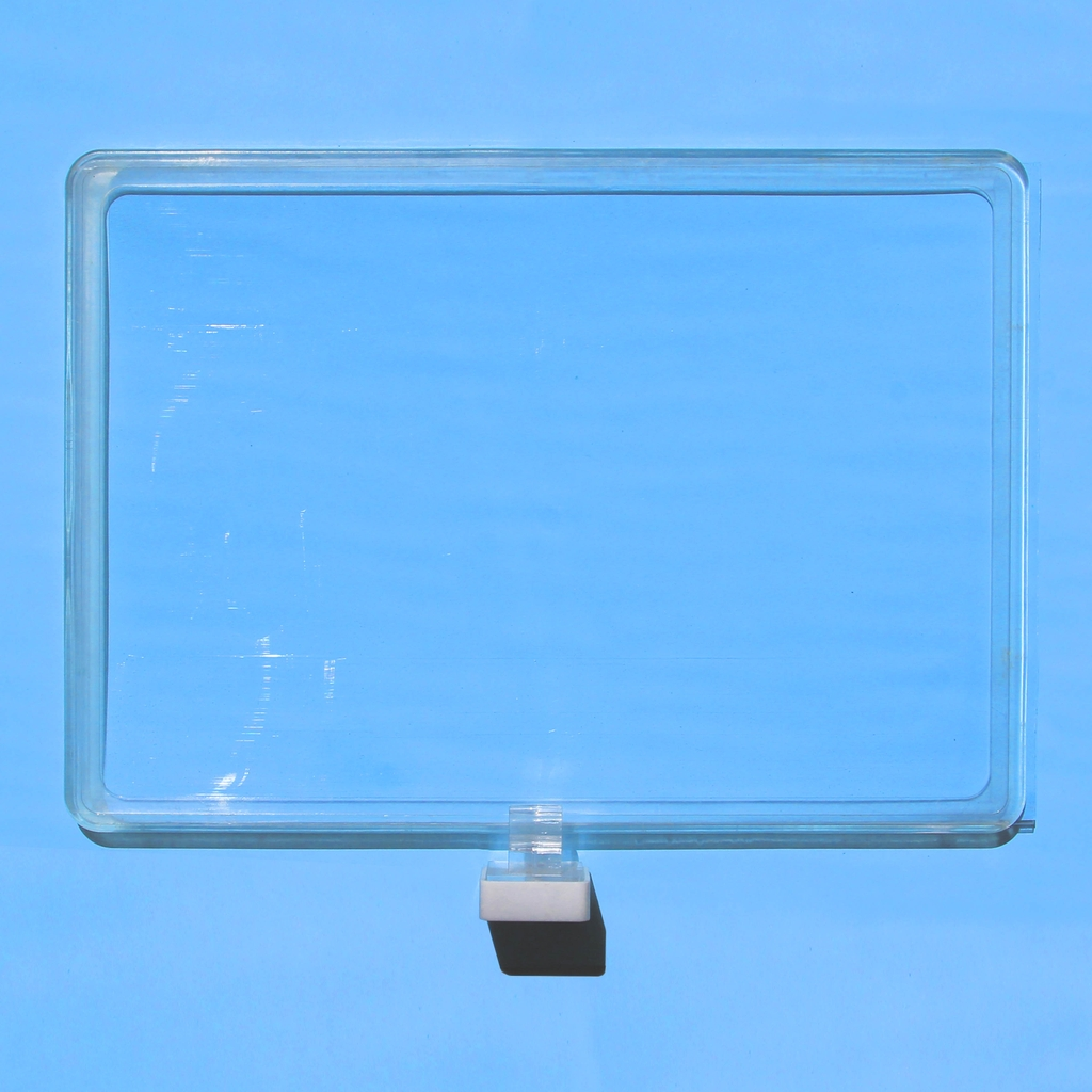 Transparent A4 price list board with magnetic base
