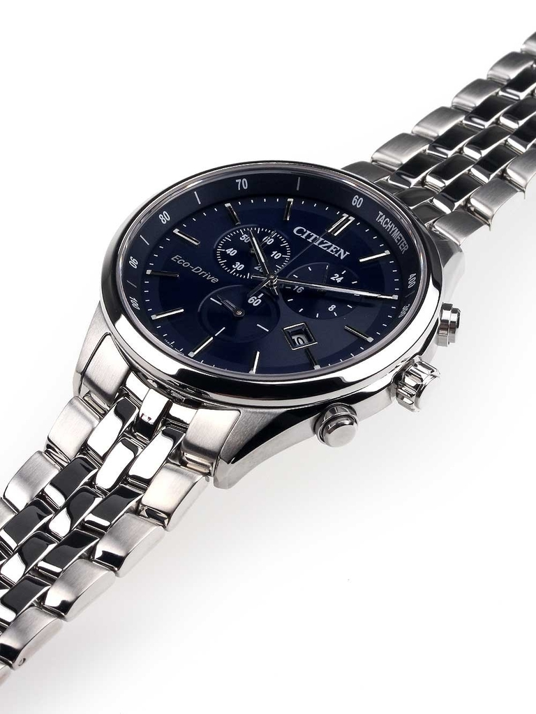 Đồng Hồ Nam Sapphire Collection Eco-Drive Chronograph Mặt số xanh - AAT2141-52L