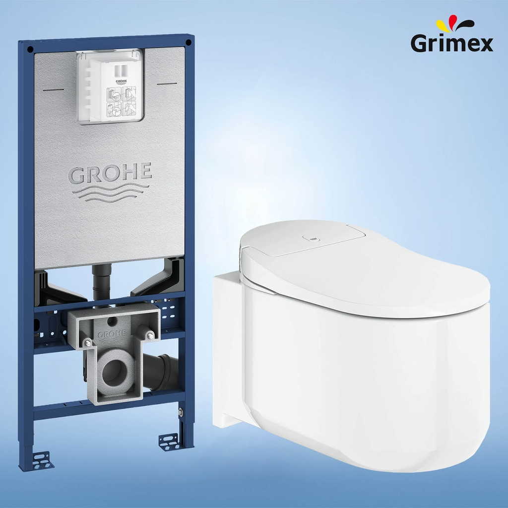 Combo Bệt treo điện tử Grohe 39354SH1 + Két âm Grohe Rapid SLX 39596000