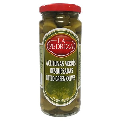 Pitted Green Olives 340g