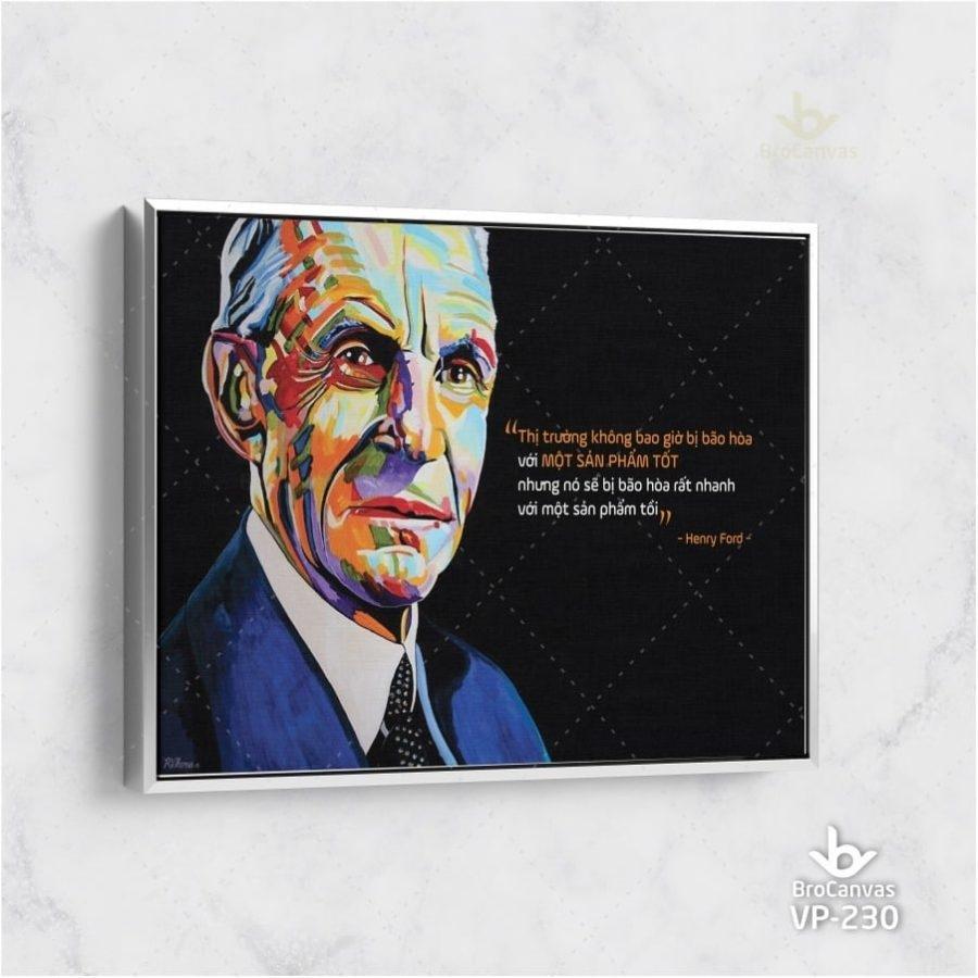 Tranh Canvas thiên tài là một phầm trăm.... VP-222 | Brocanvas.com