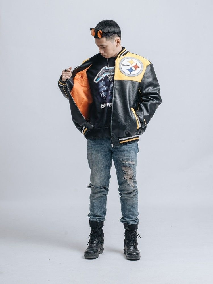 Baseball Jacket Leather Steeler