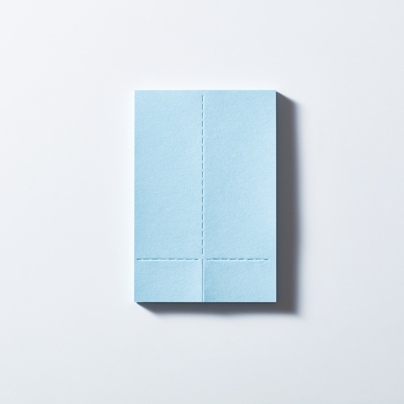 Two Forked Sticky Note - 3360 - Light Blue