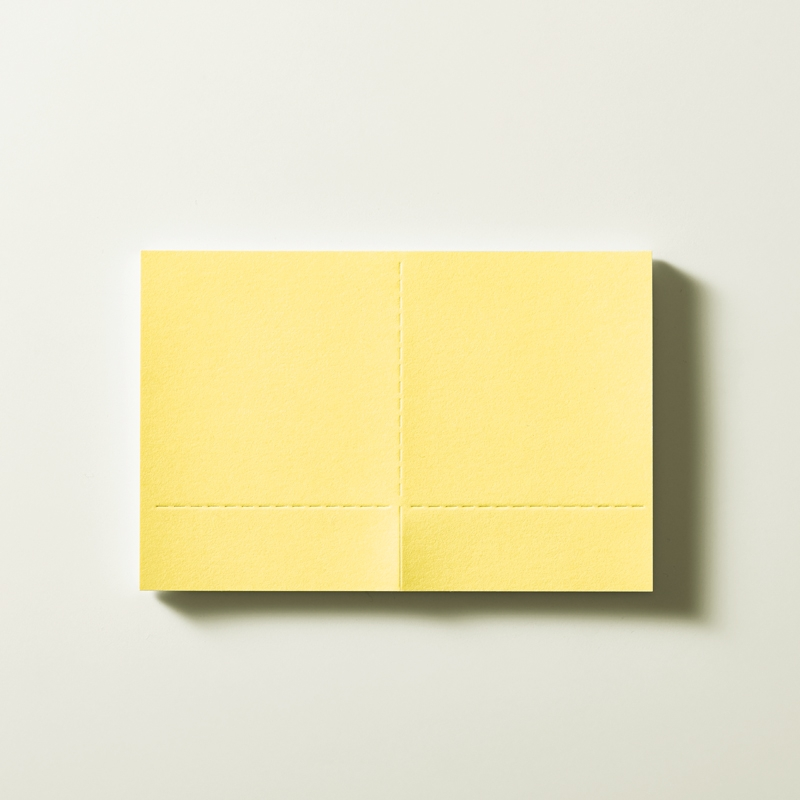 Two Forked Sticky Note - 3380 - Yellow