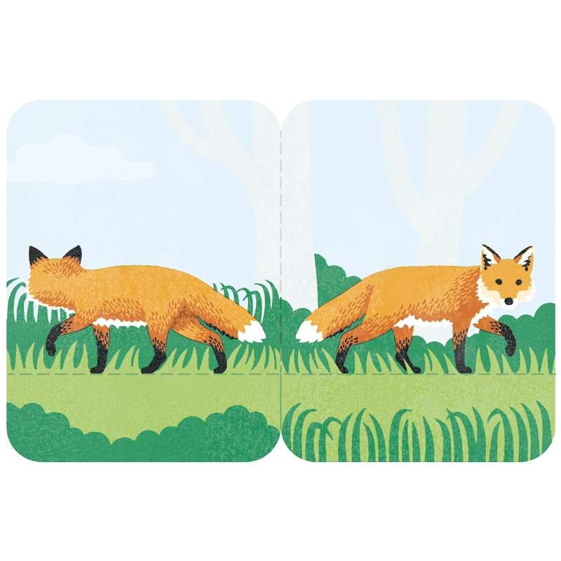 Two Forked Sticky Note - 3580-004 - Fox