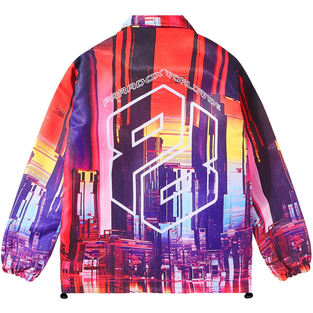 FUTURISTIC CITY OVER-PRINTED JACKET