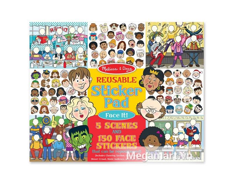 Melissa & Doug Sách sticker Gương mặt vui vẻ