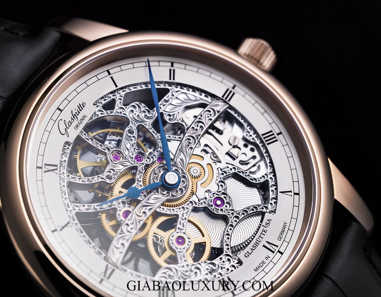 Đồng hồ Glashutte Original Senator Skeletonized 1-49-18-01-05-30